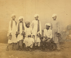 Group of Muslim students of the Free Church of Scotland Mission, Madras